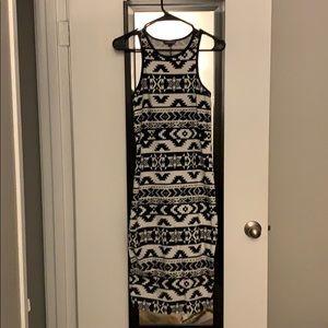 Aztec print midi dress